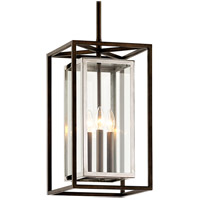 Troy Lighting F6517 Morgan 3 Light 11 inch Bronze with Polished Stainless Outdoor Pendant