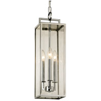 Troy Lighting F6537 Beckham 3 Light 6 inch Polished Stainless Pendant Ceiling Light