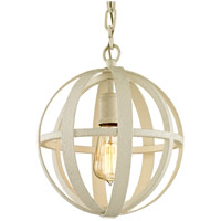 Flatiron 1 Light 10 inch Gesso White Pendant Ceiling Light