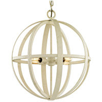Flatiron 4 Light 19 inch Gesso White Pendant Ceiling Light