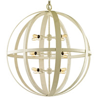 Flatiron 12 Light 31 inch Gesso White Pendant Ceiling Light