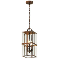 Troy Lighting F6567HB Rutherford 3 Light 8 inch Heirloom Brass Outdoor Pendant