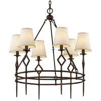Troy Lighting F6626 Maurice 6 Light 28 inch Pompeii Bronze Chandelier Ceiling Light