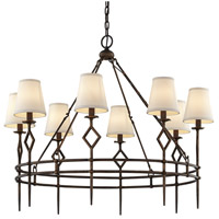 Troy Lighting F6628 Maurice 8 Light 39 inch Pompeii Bronze Chandelier Ceiling Light