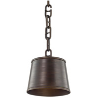 Troy Lighting F6683 Admirals Row 1 Light 12 inch Pompeii Bronze Pendant Ceiling Light