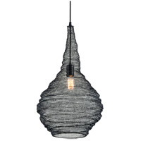 Troy Lighting F6771 Wabi Sabi 1 Light 16 inch Black Pendant Ceiling Light