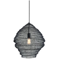 Troy Lighting F6772 Wabi Sabi 1 Light 18 inch Black Pendant Ceiling Light