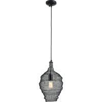 Troy Lighting F6775 Wabi Sabi 1 Light 12 inch Black Pendant Ceiling Light