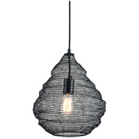 Troy Lighting F6776 Wabi Sabi 1 Light 14 inch Black Pendant Ceiling Light