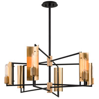 Troy Lighting F6786 Emerson 6 Light 39 inch Carbide Black Island Light Ceiling Light