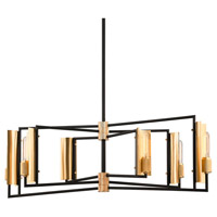 Troy Lighting F6787 Emerson 6 Light 51 inch Carbide Black Island Light Ceiling Light