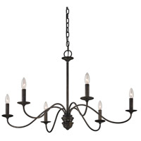 Troy Lighting F6825 Poppy Hill 6 Light 38 inch Pompeii Silver Chandelier Ceiling Light