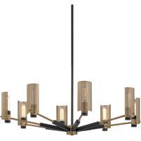 Troy Lighting F6878 Pilsen 8 Light 40 inch Modern Bronze and Aged Brass Chandelier Ceiling Light