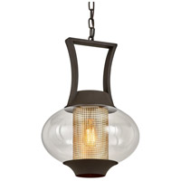 Troy Lighting Textured Bronze Glass Pendants