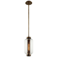 Troy Lighting F7037 Atwater 1 Light 8 inch Vintage Brass Pendant Ceiling Light