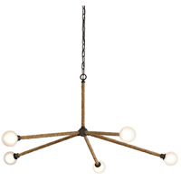 Troy Lighting F7255 Nomad 5 Light 50 inch Classic Bronze and Natural Chandelier Ceiling Light