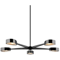 Troy Lighting F7335 Allisio 5 Light 49 inch Carbide Black and Black Chrome Chandelier Ceiling Light