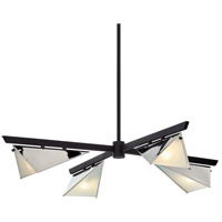 Troy Lighting F7464 Kite 4 Light 40 inch Carbide Black & Polished Nickel Chandelier Ceiling Light