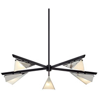 Troy Lighting F7465 Kite 5 Light 50 inch Carbide Black & Polished Nickel Chandelier Ceiling Light