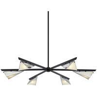 Troy Lighting F7466 Kite 6 Light 59 inch Carbide Black & Polished Nickel Chandelier Ceiling Light
