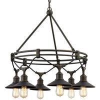 Troy Lighting F7596 Shelton 6 Light 30 inch Vintage Bronze Chandelier Ceiling Light
