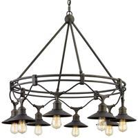 Troy Lighting F7598 Shelton 8 Light 37 inch Vintage Bronze Chandelier Ceiling Light