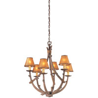 Troy Lighting Cheyenne 6 Light Chandelier in Hickory F8806HK