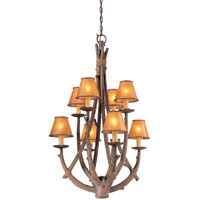 Troy Lighting Cheyenne 8 Light Entry Chandelier in Hickory F8808HK