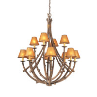 Troy Lighting Cheyenne 12 Light Chandelier in Hickory F8812HK photo thumbnail