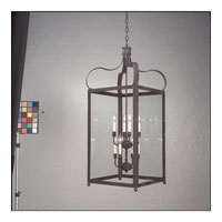 Troy Lighting F8923CI Bradford 8 Light 25 inch Charred Iron Hanging Lantern Ceiling Light in Clear