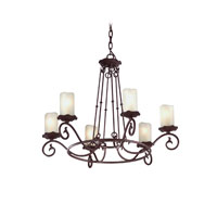 Troy Lighting Provence 6 Light Chandelier in Old Rust F9196OR