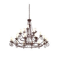 Troy Lighting Provence 21 Light Chandelier in Old Rust F9197OR photo thumbnail