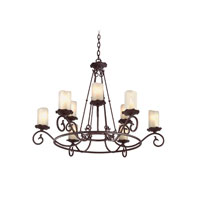 Troy Lighting Provence 9 Light Chandelier in Old Rust F9199OR