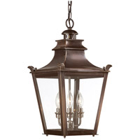 Dorchester 3 Light 11 inch English Bronze Outdoor Hanging Lantern