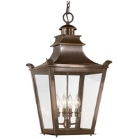 Dorchester 4 Light 14 inch English Bronze Outdoor Hanging Lantern
