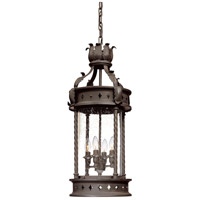 Troy Lighting Los Feliz 4 Light Outdoor Hanging Lantern in Old Bronze F9635OBZ