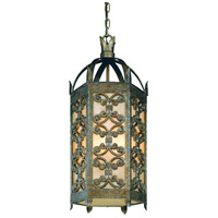 Troy Lighting Gables 4 Light Outdoor Hanging Lantern in Charred Gold F9908CG