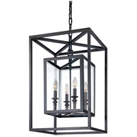 Troy Lighting Morgan 4 Light Pendant in Deep Bronze F9994DB