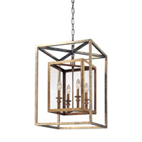 Morgan 4 Light 16 inch Gold Silver Leaf Entry Pendant Ceiling Light