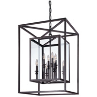 Troy Lighting Morgan 8 Light Pendant in Deep Bronze F9998DB