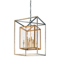Morgan 8 Light 21 inch Gold Silver Leaf Entry Pendant Ceiling Light
