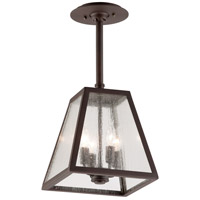 Troy Lighting FCD3437-C Amherst 4 Light 11 inch River Valley Rust with Coastal Finish Outdoor Hanging Lantern in Clear Seeded