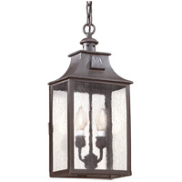 Newton 2 Light 9 inch Old Bronze Outdoor Hanging Lantern in Incandescent