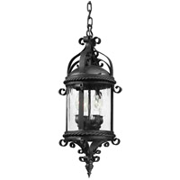 Pamplona 4 Light 10 inch Old Bronze Outdoor Hanging Lantern in Incandescent