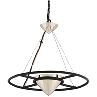 Troy Lighting FL4815 Zero Gravity LED 18 inch Carbide Black and Polished Nickel Pendant Ceiling Light