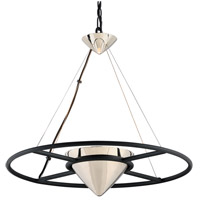 Troy Lighting FL4816 Zero Gravity LED 25 inch Carbide Black and Polished Nickel Pendant Ceiling Light