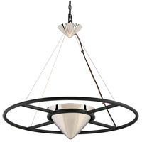 Troy Lighting FL4817 Zero Gravity LED 32 inch Carbide Black and Polished Nickel Pendant Ceiling Light