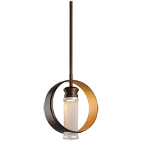 Troy Lighting Insight - LED Pendant - 8 inchW - Modern Bronze and Gold Leaf - Silver Perforated Metal FL4895