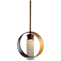 Troy Lighting Insight - LED Pendant - 16 inchW - Modern Bronze and Gold Leaf - Silver Perforated Metal FL4897