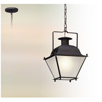 Wellesley LED 10 inch Charred Iron Hanging Lantern Ceiling Light